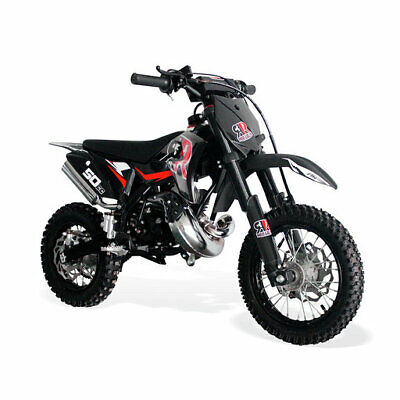 Dirt Bike 50cc-12/10 Wheels, 2 Stroke. Kick Start, Hydraulic Brakes/Forks-RED • 679.99£