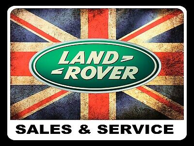 Land Rover Sales & Services, Retro Replica Vintage Style Metal Sign/plaque Gift • 4.36£