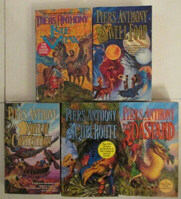 Lot Of 5 Xanth Novels Piers Anthony • 12.99$
