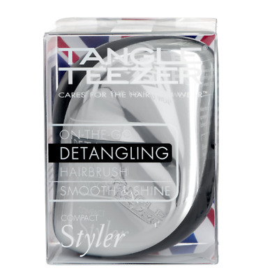 Tangle Teezer Compact Styler Silver Bush Detangling Hairbrush  • 8.99£
