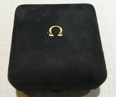 Omega Rare Vintage Watch Box Velvet Black For Man's Watches Good Condition • 198.02£