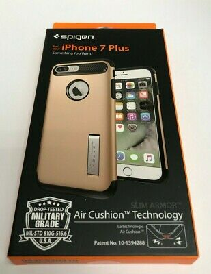 AU24.53 • Buy Spigen Slim Armor Case For IPhone 7 Plus Also For IPhone 8 Plus - Champagne Gold