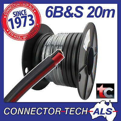 AU199.95 • Buy 20 Metres 6B&S Twin Core Cable Tycab Wire 20M 4WD Caravan Battery #TC6BSx20