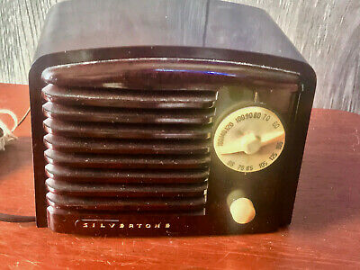 $ CDN201.71 • Buy Vintage 1938 Silvertone Bakelite 6108 Mini Working Radio Sears