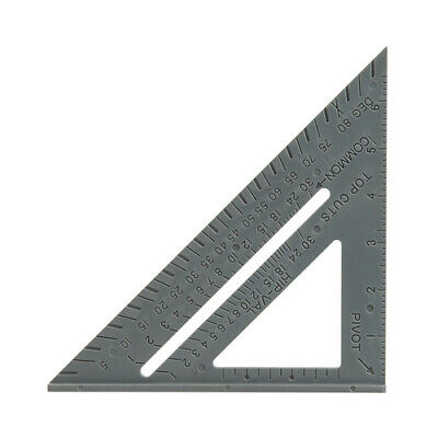 7  Plastic Set Square Roofing Rafter Tri-square Mitre Guide Speed Square   • 4.20£