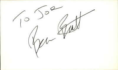 $ CDN62.17 • Buy BENJAMIN BRATT LAW AND ORDER MISS CONGENIALITY Signed 3 X5  Index Card