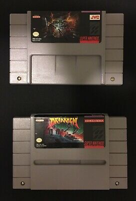 $ CDN32 • Buy Lot Of 2 Original SNES Games, Dungeon Master And Drakkhen  (tested And Working)