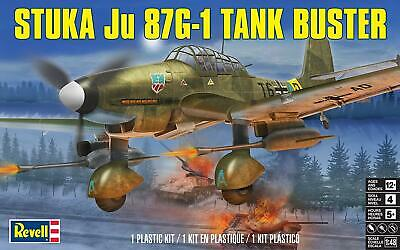 $16.95 • Buy Revell 85-5270 German Stuka Ju 87G-1 'Tank Buster' Dive Bomber Model Kit - 1:48