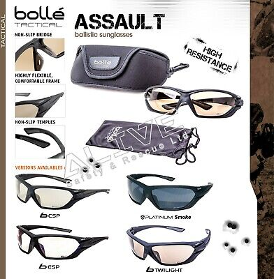 £57.99 • Buy Bolle ASSAULT Tactical Ballistic Sunglasses Military UV Protect Safety Glasses