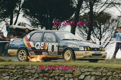 Alessandro Fiorio Ford Sierra RS Cosworth 4x4 Portugal Rally 1991 Photograph • 4£