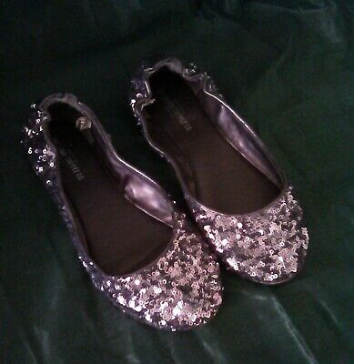 $15.99 • Buy Mossimo Supply Co.* Silver Sequin Beaded Flats Sz 7.5