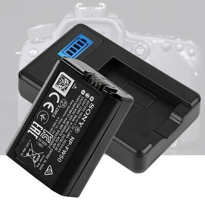 AU13.06 • Buy NP-FW50 Battery LCD Single Charger For Sony Alpha A6000 A6300 A7 Camera Lens NEW