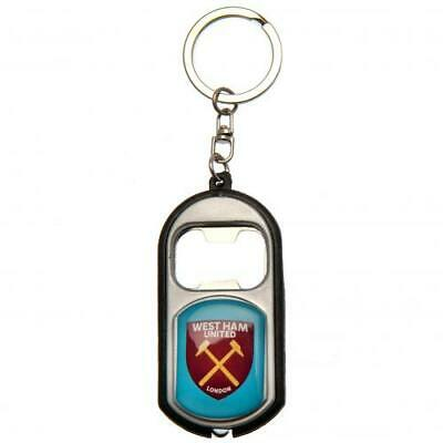 West Ham United F.C. Key Ring Torch & Bottle Opener On A Chain • 5.46£