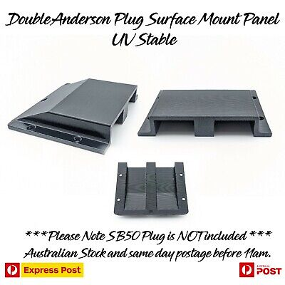 AU30.97 • Buy Double Twin Anderson Plug Surface Mount Panel Kit External Suit 50 Amp UV STABLE