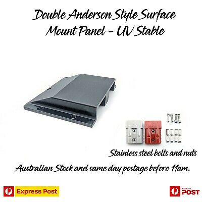 AU39.95 • Buy Double Twin Anderson Plug Surface Mount Panel Kit External Suit 50 Amp Inc Bolts