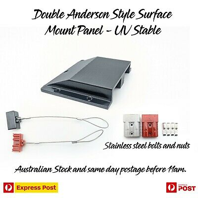 AU44.97 • Buy Double Twin Anderson Plug Surface Mount Panel Kit External Inc Bolts, Dust Caps
