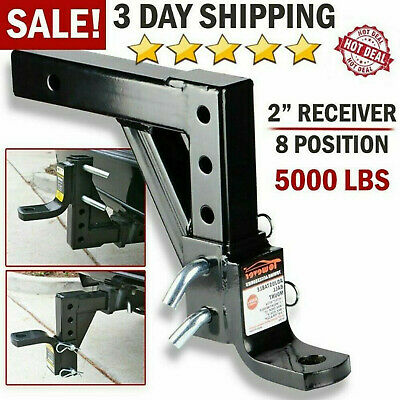 Drop Adjustable Ball Mount For Car Trailer Hitch Tow 2  Receiver Towing System • 37.99$