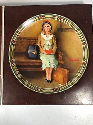 $ CDN12.50 • Buy Edwin Knowles Collector Plate Norman Rockwell Young Girls Dream 1985