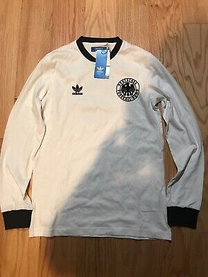 Adidas Originals DFB Germany Cotton White LS Tee Size S BNwT X28010 Soccer • 64.39£