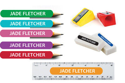 AU9.90 • Buy 100 X Kids Pencil Pen Stationary Name School Labels Personalised Stickers Small