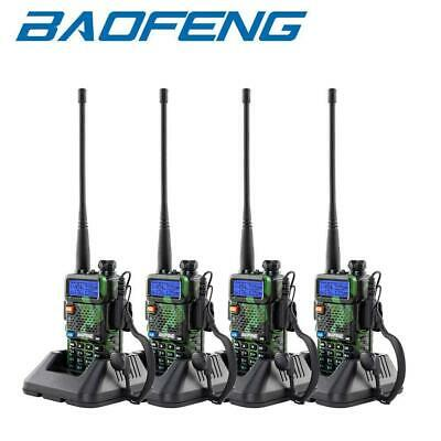 4X BAOFENG UV-5R Walkie Talkie Dual Band VHF UHF 400-520Mhz FM Ham Two Way Radio • 65.95£
