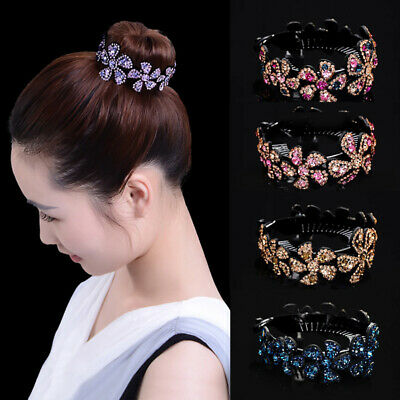 $2.93 • Buy Women Girls Hair Clip Crystal Claw Ponytail Bun Holder Comb Hairpin Fashion Gift