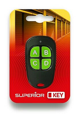£4.99 • Buy Superior Fixed Code Remote Control KeyFob For Garage / Gate / Barrier Etc