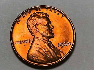 $4.95 • Buy 1960 P Lincoln Memorial Small Date Cent Penny Gem BU Red