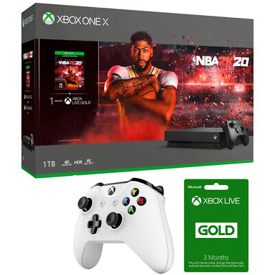 Microsoft Xbox One X 1 TB Console With NBA 2K20 + Controller & Gold Membership • 549$