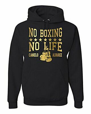 $29.99 • Buy Canelo Alvarez No Boxing No Life Black Hooded Sweatshirt Canelo Álvarez Hoodie