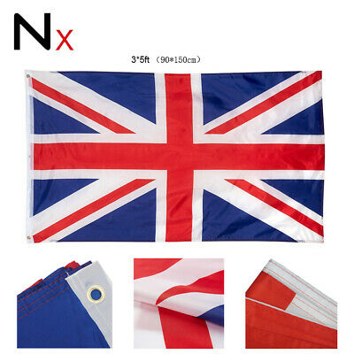 £3.49 • Buy 5 X 3FT Large Union Jack Flag Great Britain Fabric Polyester GB Sport UK New BIN