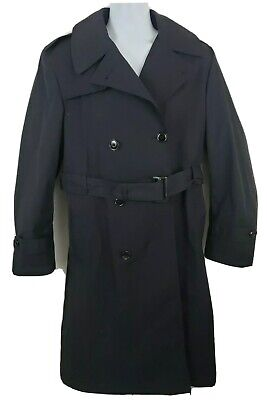 $44.44 • Buy All-weather Black Military Rain Coat Trench Size 40 R Sterlingwear No Liner