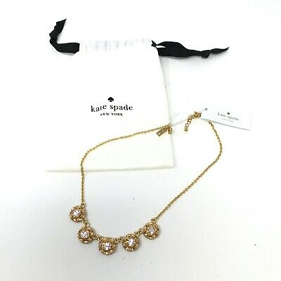 $ CDN57.09 • Buy NWT Kate Spade Putting On The Ritz Glass Stone Gem Row Costume Necklace Jewelry