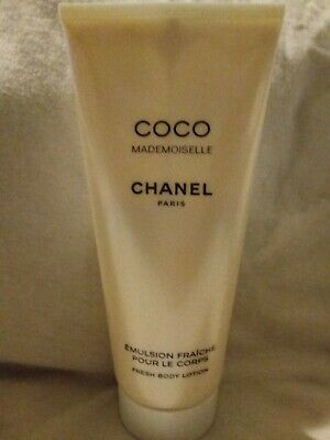 Coco Chanel Mademoiselle Fresh Body Lotion Partial 3.4 Fl Oz @60% Full • 49.99$