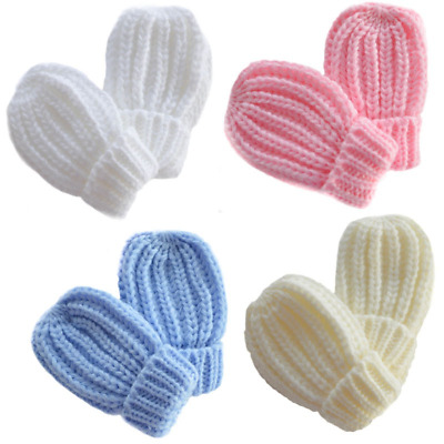 £3.19 • Buy Baby Mittens Mitts Gloves Knitted Cable Knit Winter Warm Girl Boy Cuffed Ribbed