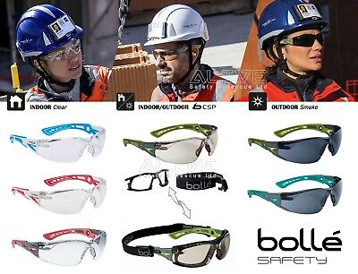Bolle Safety Glasses RUSH+ SMALL Spectacles Goggles UV Eye Protection Sport Type • 10.69£