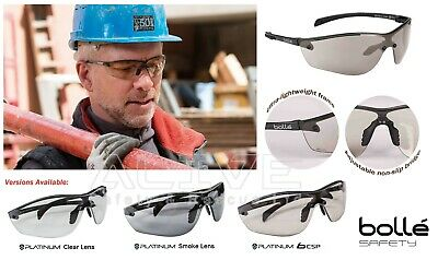 Bolle Safety Glasses SILIUM+ Spectacles Lightweight Frame UV Eye Protection Lens • 2.99£