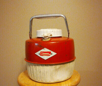 $29.99 • Buy Vintage Coleman Red Water Jug Cooler 1 Gallon Diamond Emblem 6-57 Free Shipping