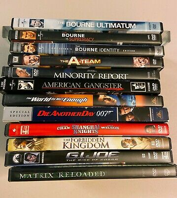 $ CDN8.54 • Buy Lot Of 12 Action Movie DVDs: Bourne, Bond, Chan, More