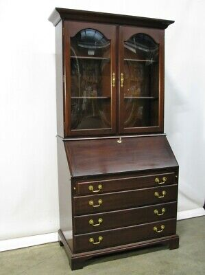 $1595 • Buy Beautifully Crafted Mahogany Slant-Front Desk With Bookcase Top By Crescent Mint