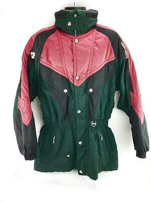 $31.50 • Buy Vtg Descente Mens Size Large Black/Red/Green Insulated Ski Jacket