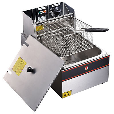£69.90 • Buy 2500W 10L Electric Deep Fryer Fat Fry Chip Commercial Countertop Stainless Steel