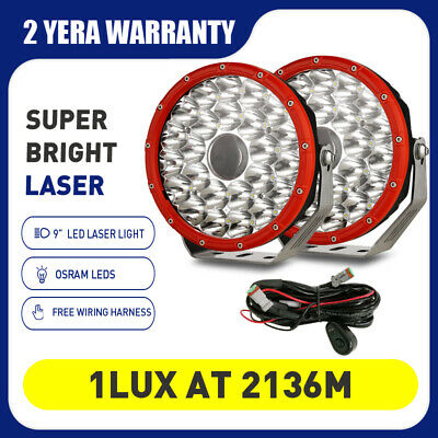 AU268.98 • Buy NEW 9inch OSRAM LED LASER Driving Spot Lights Offroad 4WD Truck Boat RED Round
