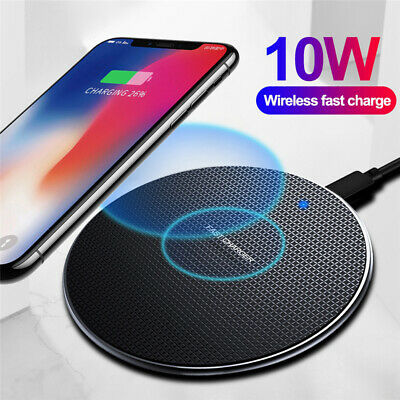 $ CDN6.22 • Buy For Samsung S9 S10 S20+ Note 10 Plus Fast Qi Wireless Charger Dock Charging Pad