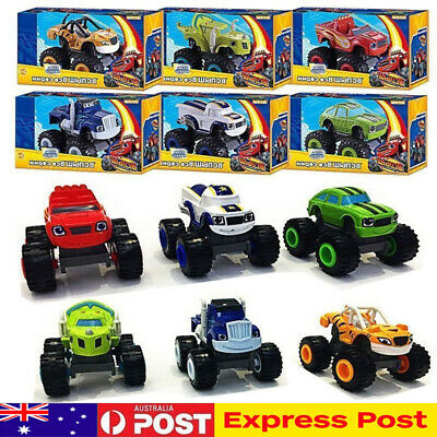 AU14.43 • Buy 6x Blaze And The Monster Machines Vehicles Toy Racer Cars Trucks Kid Set Gift AU