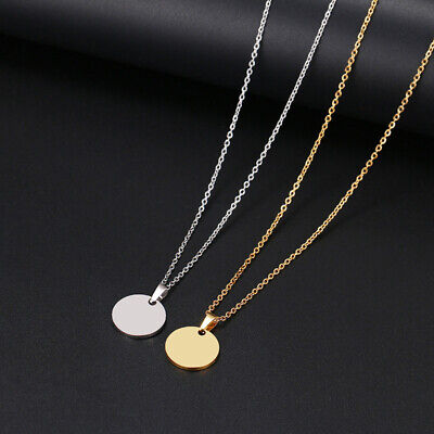 £1.49 • Buy Karma Necklace Circle Round Coin Pendant Chain Women Men Xmas Stainless Steel