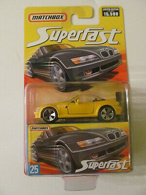 $11.99 • Buy Matchbox Superfast - #25 - BMW Z3 (Yellow) - Sealed