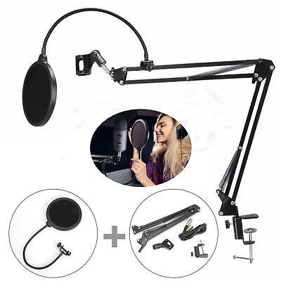 Microphone Suspension Stand Studio Broadcast Boom Scissor Arm Holder Mic Desktop • 9.69£