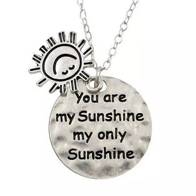 You Are My Sunshine Sun Charm Pendant Necklace Engraved Womans Ladies • 4.99£