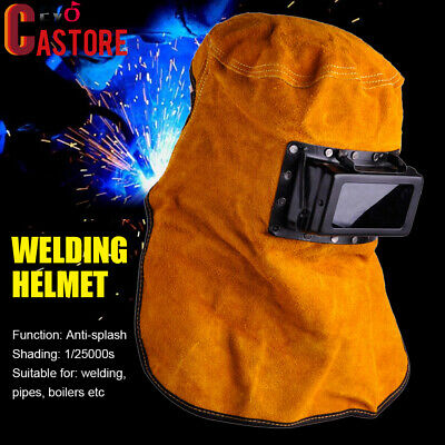 $ CDN28.99 • Buy Solar Auto Darkening Filter Lens Welder Leather Hood Welding Helmet Mask New